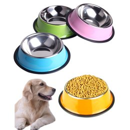 Wholesale Stainless Steel Dog Bowl Wholesale - Stainless Steel Dog Bowls Pet Food Water Drink Dishes Feeder for Cat Puppy Pet Dog Feeder Bowls