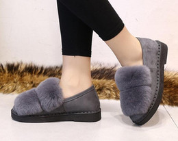 Wholesale Women Slippers Boots - Wool fur cony hair boots air conditioning room sheepskin slippers fur Women shoes home shoes womens