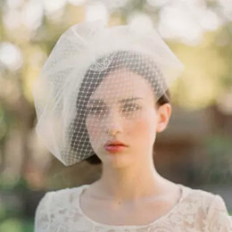 Wholesale Tulle Face - Hot Sle Beautiful Bride Accessories Bridal veil White Bridal Tulle Fascinat Bride Wedding Hats Face Veils