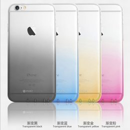 Wholesale Wholesale Plastic Sleeves - For Mac iphone6   6s 6s new protective sleeve phone shell mobile phone sets transparent gradient wholesale tpu