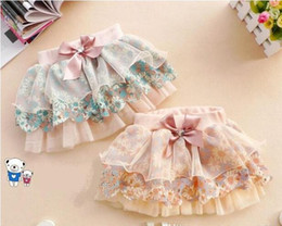 Wholesale green pleated mini skirt - Baby Girl Skirts Mini Skirt Baby Florwal Tutu Pleated Skirt Children Flower Princess Skirts With Bowknot