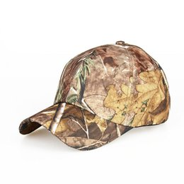 Wholesale Camouflage Caps Hunting - New Arrival Camouflage Baseball Cap Camouflage Flat top Cap Bionic Camouflage Fishing Hat Free Float CL29-0057