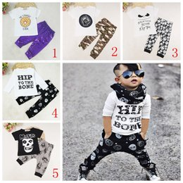 Wholesale cool baby clothes boys - Fashion Children Set Kids Suit Outfits boys Clothes T-shirt+pants Child Suit Kids Sets boys Outfits cool baby boys clothes