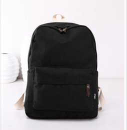 canvas backpack wholesale for men Promo Codes - Wholesale-HOT!! 2016 Fashion Backpacks for Men and Women Solid Preppy Style Soft Back Pack Unisex School Bags Big Capicity Canvas BagC-109