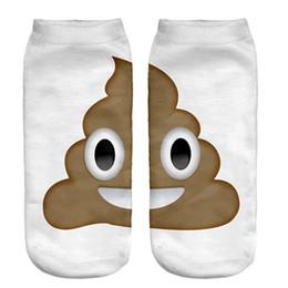 Wholesale Ice Cream Eye - Wholesale-1pair 3D ice cream Eyes Printed socks Men New Unisex Cute Low Cut Ankle Sock Multiple Color Cotton sock Casual Charactor Sock