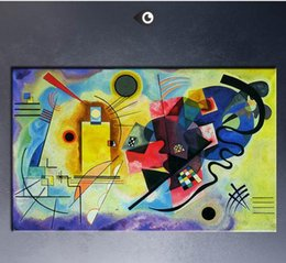 Wholesale Paintings Kandinsky - Yellow, Red, Blue By WASSILY KANDINSKY,High Quality Genuine Handpainted Home Wall Decor Abstract Art oil Painting On Canvas customized size
