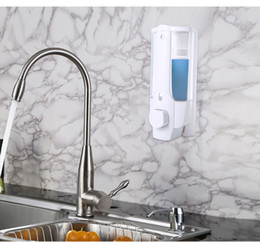 Wholesale Wall Mounted Hand Soap Dispensers - Soap Shampoo Dispenser Wall Mount Shower Bath and Liquid Soap Dispenser Head Distribute Shampoo 350ML for Kitchen Bathroom