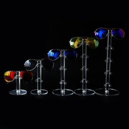 Wholesale Display Show Glass - Acrylic Sunglass Display Rack Eyeglasses Showing Stand Jewelry Shelf Glasses Holder for One Pair to 5 pairs Sunglasses Display