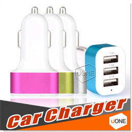 Wholesale Cigarette Eu Adapter - Car Charger Adapter 3 USB port Rapid Car Charger Cigarette Charger for Apple Iphone Android Smart phone for Samsung HTC LG MOTO Sony HuaWei