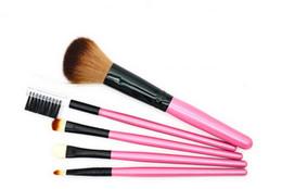 Wholesale 5pc Set Brush - 5pc Makeup Brushes Set Pro Cosmetic Brush Eyebrow Foundation Shadows Eyeliner Lip Kabuki Make Up Tools Kits