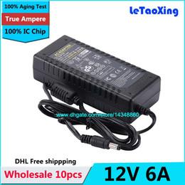 Monitor de energia ic on-line-10 pcs AC 100-240 V Adaptador Para DC Power Adapter 12 V 6A fonte de 72 W Para 5050 3528 Monitor de Luz LED Com IC Chip
