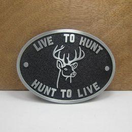 Wholesale Deer Belt - BuckleHome fashion deer belt buckle animal belt buckle 4cm loop wideth pewter finish FP-02903 free shipping