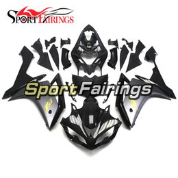 Wholesale Yamaha R1 Body Kit Black - Black Silver Gold Plastic Injection Fairings For Yamaha YZF R1 Year 07 08 2007 2008 ABS Motorcycle Fairing Kit Body Kit Sportbike Cover