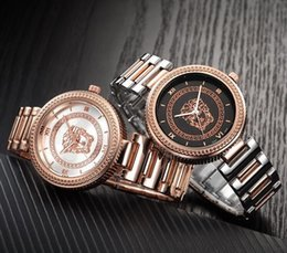 Montre femme ouro rosa on-line-2017 nova moda mulheres relógios de diamantes de luxo relógio de quartzo das mulheres subiu de ouro de aço inoxidável relogio feminino vestido de relógio montre femme