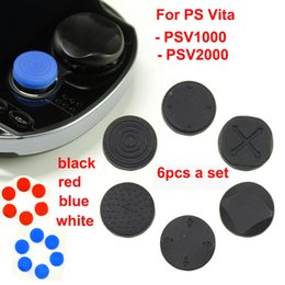 Wholesale Cases For Ps Vita - 50sets lot 6 in 1 Silicone analog thumbstick Cover for PlayStation PS Vita PSV2000 psv1000 free shipping