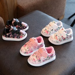 Wholesale Boy Walkers - Flower priting fashion casual baby girls shoes hot sale Baby walker casual breathable girls shoes