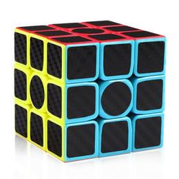 Wholesale Carbon Fiber Cube - 2017 New Carbon Fiber Sticker Speed 3x3x3 Magic Cube Fidget Cube Magico Educational Brain Teaser Toys For Children Adult