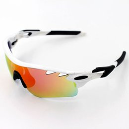 Wholesale Riding Coats - 2017 New Brand Radar EV Pitch Polarized sun glasses coating sunglass for women man sport sunglasses riding glasses Cycling Eyewear uv400