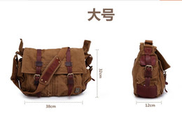 Wholesale Button Flaps - good quality BSF 556 canvas bag BSF colonial shoulder bag with original metal badge