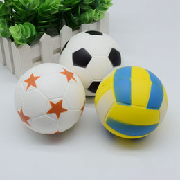 Wholesale Toy Factory Wholesale - Factory Soccer Squishy Football volleyball Squishiy Simulation Food For Key Ring Phone Chain Toys Gifts All Kinds Of Style