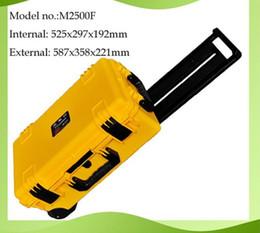 Wholesale Plastic Tool Trolley - trolley waterproof tool case 2500 equipment case camera case with pre-cut foam External dimensions 587*358*221mm