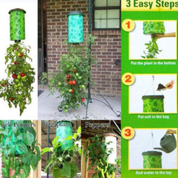 Wholesale Outdoor Garden Planters - Topsy Turvy Tomato Outdoor Upside Down Hanging Planter System Garden Plant Greening Planting Tomato Planter OOA2501