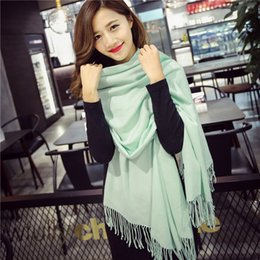 Wholesale Luxury Ladies Dress Prom - Luxury pashmina scarf plain brushed scarf shawl for lady and women prom dresses wedding dresses meet Eu starndard