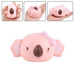 Soft koala giocattolo online-New Jumbo Cute Cartoon Koala Head Squishy lento aumento del telefono cinghie Accessori Soft Bread Hot Kids Toy Gift
