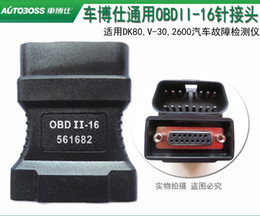 Wholesale Vw Pin Code Reader - 100% Original V30 DK80 2600+ 2700 2800 OBD-II -16 Adaptor Connector for Autoboss OBD 2 16 pins OBD II Adapter 561682