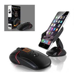 Wholesale One Touch Mobile - Creative Car Phone Stand Holder One Touch Mouse Suction Cup Cradle 360 gyrate for iphone samsung huawei smart mobile phone