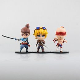 Wholesale Ezreal Figure - League of Legends Action Figures 11cm LOL Yasuo Ezreal the Blind Monk anime brinquedos hand model toy for collection