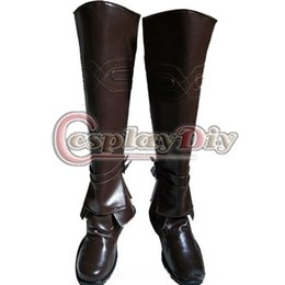 Wholesale Ezio Cosplay Costume - Wholesale-Assassin's Creed Ezio Boots Adult Halloween Carnival Cosplay Shoes Custom Made