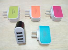 Qualität 3 USB-Ladegerät EU US-Stecker Handy-Ladegerät Adapter LED Blitz USB-Ladegerät für IPAD Tablet, Sony, iphone6 plus SE, sumsung von Fabrikanten