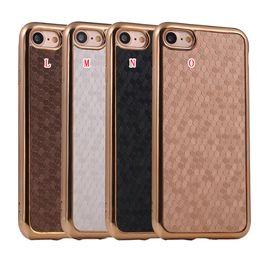 Wholesale Fiber Grains - Bling Glitter Football Grain Plating Soft TPU Case For Iphone 8 7 I7 Iphone7 7TH Plus Sparkle Carbon Fiber Cell Phone Back Skin Cover 200pcs