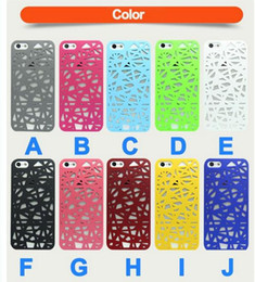 Wholesale Snap Backs For Girls - 5 Pcs Hot Colorful Bird Nest Style Case protector Gossip Girl Hard Back Cover Snap On Phone Case For iPhone 5 5s Phone Cases