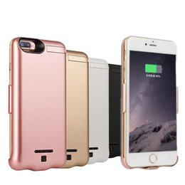 Wholesale External Backup Battery Back Case - External Battery Charger case for iphone 7 7plus Portable Power Bank 10000 mAh Powerbank Charger pack backup back cover with box