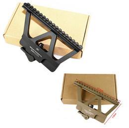 Wholesale Gun Mounts Rails - XWXS Quick Detach AK Gun Rail Scope Mount Base Picatinny Side Rail Mounting For AK 47 AK 74 Black Tan.