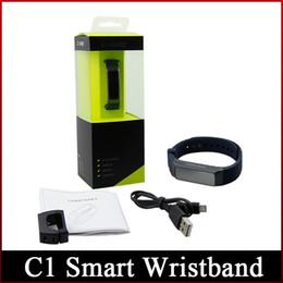 bluetooth armbänder armbänder Rabatt 2016 neueste C1 Smart Wristband 80mAh 0,91 Zoll OLED-Bildschirm IOS und Android-System (IOS6.0, Android4.4 oben) Freeshipping