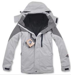 Wholesale Ski Climbing - High Quality Climbing Clothes Fashion Outdoor Double Layer 2in1 Men Sports Coat Winter Waterproof Windbreaker Men Skiing Jacket