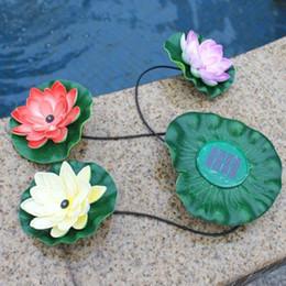 Wholesale Street Light Pool - Floating Pool Light Garden Pool Floating Lotus Solar Light Night Flower Lamp for Pond Fountain Decoration Solar Lamps