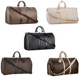 Wholesale Barrel Leather Handbag - 2017 NEW fashion men women travel bag duffle bag, brand designer luggage handbags large capacity sport bag 62CM L888V