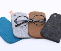 Wholesale Kid Eyeglasses - Unisex Fashion Eyeglasses Bag Women Men Kids Sunglasses Case Pouch Business Soft Wool Glasses Case 18*8cm