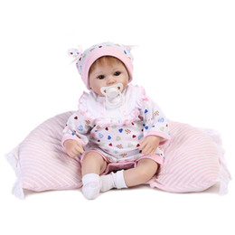 "Wholesale Touch Dolls Toys - Wholesale-Real touch 18"" 45cm Silicone adora Lifelike Bonecas Baby newborn realistic magnetic pacifier bebe bjd reborn dolls babies toy"