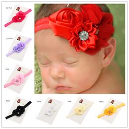 Wholesale Headbands Newborn Cheap - Wholesale 36pcs Baby Baptism Gift Cheap headband Hair bows flower headband Newborn baby Hair bows Elastic Hair band Fancy Headwear