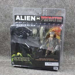 Wholesale finish packing - 20-22cm Alien vs Predator Tru Exclusive 2-Pack PVC Action Figure Collectable Model Toy for kids gift high quality free shipping