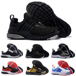Wholesale Fabric Buttons - wholesale new Air Presto Blackout running shoes Air Presto white black multi sport running shoes air presto ultra sneaker Sock Dart boost