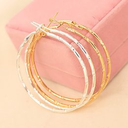 Wholesale Basketball Wives Earrings Large Hoop - Wholesale- Big Circle Gold Silver Hoop Earrings Women Large Round Loop Earring Fashion Jewelry Accessories Basketball Wives Pendientes