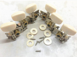 Wholesale Music Strings - 6 Piece Classical Guitar Tuning Pegs Single Machine Heads Tuners Keys String Music GUITAR PEGS Metal