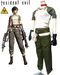 Wholesale Costume Resident Evil - Wholesale-Free Shipping Resident Evil Rebecca Chambers Game Cosplay Costumes