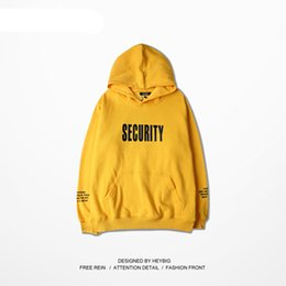 Wholesale Japanese Style Men Hoodies - Japanese Harajuku Hoodie Fashion high street BF style yellow Hooded sweatshirt Men and Women couples